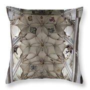 pointed vault of Saint Barbara church Throw Pillow