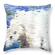 Polar Bear Reflection Throw Pillow