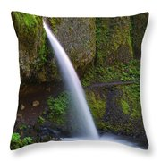 Ponytail Falls - Columbia River Gorge - Oregon Throw Pillow