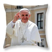 Pope Francisco Throw Pillow by Diane Greco-Lesser