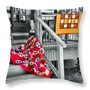 Porch Of Many Colors Throw Pillow