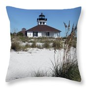 Port Boca Grande Lighthouse Throw Pillow