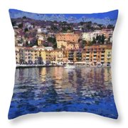 Porto Stefano In Italy Throw Pillow