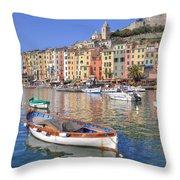 Porto Venere Throw Pillow