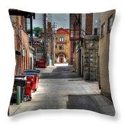 Portrait Alley Throw Pillow