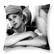 Portrait In Black And White Throw Pillow