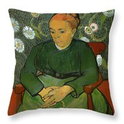 Portrait Of Madame Roulin Throw Pillow