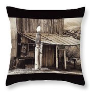 Post Office-gas Station Ghost Town Wagoner Arizona 1968 Throw Pillow