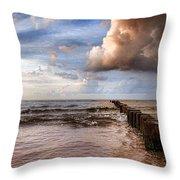 Prerow Beach Throw Pillow