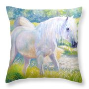 Pretty Mare Throw Pillow