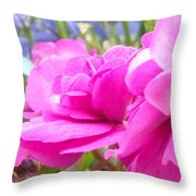 Pretty Pink Flower Throw Pillow