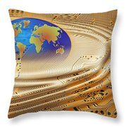 Printed Circuit Throw Pillow