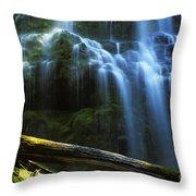 Proxy Falls Oregon Throw Pillow