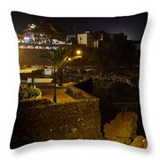 Puerto De La Cruz By Night Throw Pillow