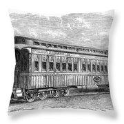 Pullman Car, 1869 Throw Pillow