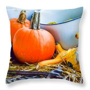 Pumpkins Decorations Throw Pillow