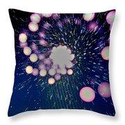 Purple Bang Theory Throw Pillow