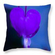 Purple Bleeding Heart Flower Throw Pillow