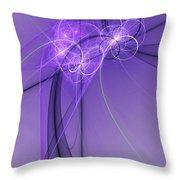 Purple Illusion Throw Pillow
