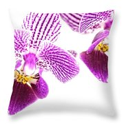 Purple Orchid-5 Throw Pillow
