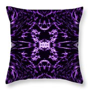 Purple Series 9 Throw Pillow