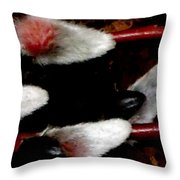 Pussy Willow Texture Like Fur Throw Pillow