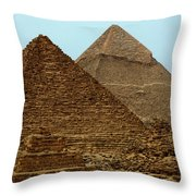 Pyramids At Giza Throw Pillow by Bob Christopher