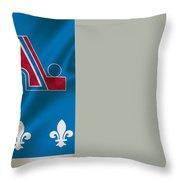 Quebec Nordiques Throw Pillow