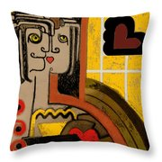 Queen Of Hearts Of Egypt Throw Pillow