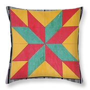 Quilting The Barn  Throw Pillow