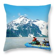 Rafters On The Alsek River Throw Pillow