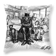 Railroad Accidents, 1871 Throw Pillow