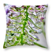 Raindrop Laden Blushing Princess Throw Pillow