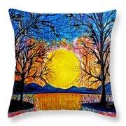 Raining Sunset Throw Pillow