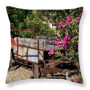 Ranch Wagon Cross Over Throw Pillow