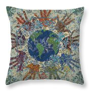 Reach Out  Throw Pillow