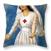 Red Cross Poster, 1918 Throw Pillow