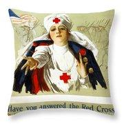 Red Cross Poster, C1918 Throw Pillow