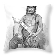 Red Eagle, William Weatherford, Creek Throw Pillow