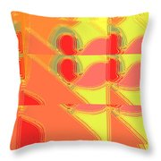Red Effect Throw Pillow
