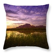 Red Mountain Reflections  Throw Pillow