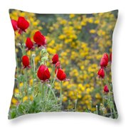 Red On Yellow Throw Pillow