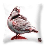 Red Pigeon Pop Art 5516 - Fs - Bb -  Modern Animal Artist James  Throw Pillow