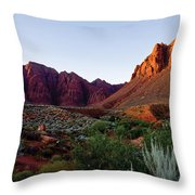 Red Rock Glory Throw Pillow