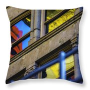 Red Yellow Blue Abstract No Watermark Throw Pillow