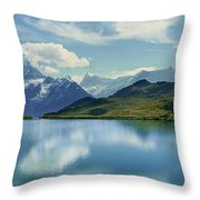 Reflection Of Clouds And Mountain Throw Pillow