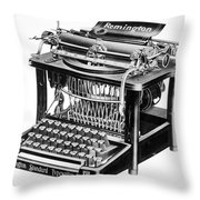 Remington Typewriter Throw Pillow
