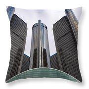 Renaissance Center Throw Pillow