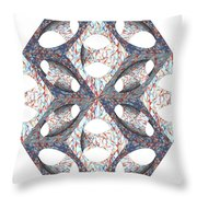 Retro Ornamental Subtraction Of Cube And Sphere  Throw Pillow