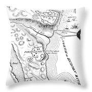 Revolutionary War Plan Throw Pillow